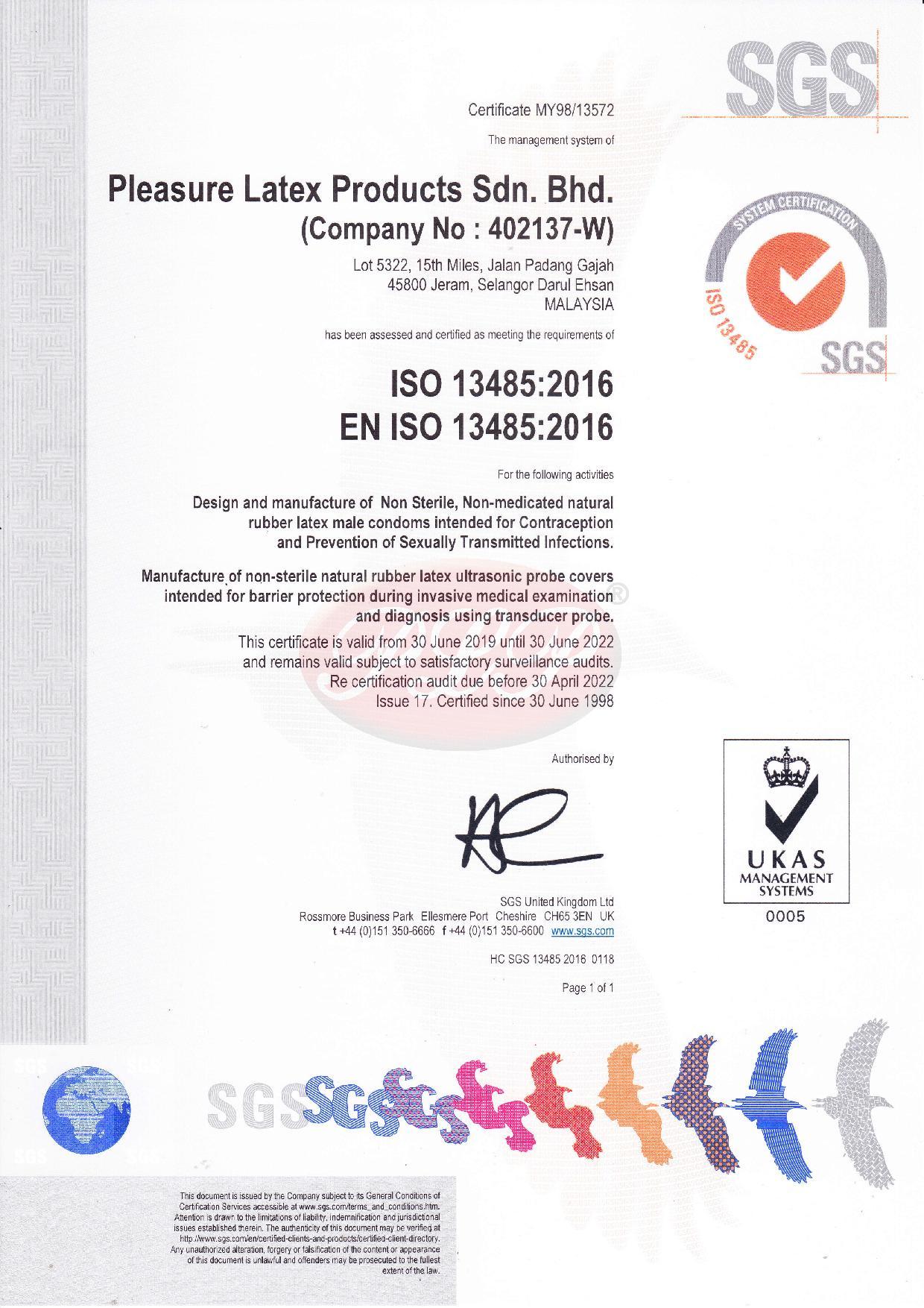 EN ISO 13485 QMS Certificate